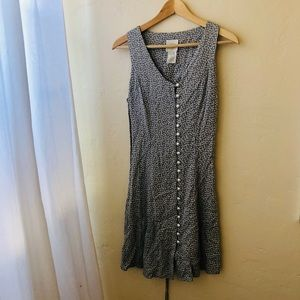 Vintage button down dress with tiny flowers